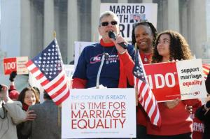 Cathy Marino-Thomas and family at the March for Marriage Equality in Washington, DC