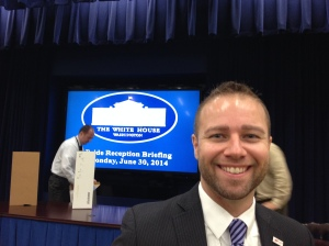 Brian Silva at the White House